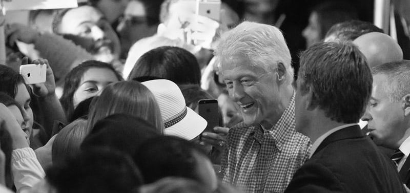 Bill Clinton meeting people